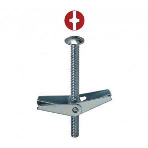 3/16 Toggle Bolts - Phillips/Slotted Mushroom Head S