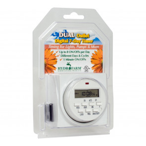 7-Day Grounded Digital Programmable Timer - Dual Outlet - 1725W, 15A, 1-Minute On/Off