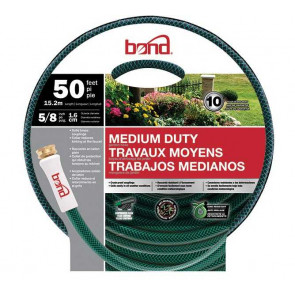 Bond Medium Duty Garden Hose - 5/8-Inch x 50' (Green)