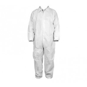 White Coveralls - Elastic Wrists & Ankles