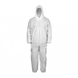 White Coveralls - Hood w/ Elastic Wrists & Ankles