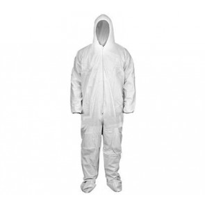 White Coveralls - Hood, Boots w/ Elastic Wrists & Ankles