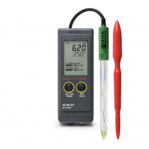 Hanna Direct Soil pH Meter with REFILLABLE pH electrode