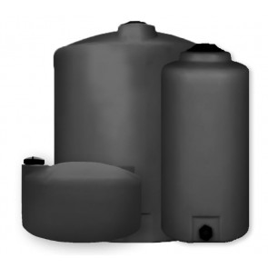 "Vertical Water Tanks - Black (1 1/2"" Inlet & 2"" Outlet)"